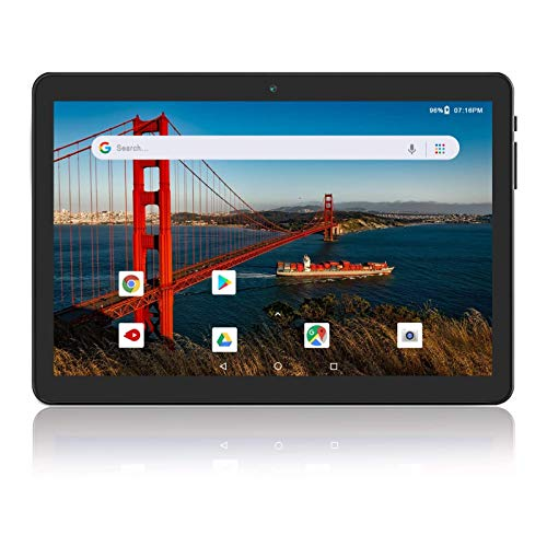 Android Tablet Phone 10 Inch, 3G Unlocked Phablet with Dual SIM Card Slots and Cameras,16GB Storage,Quad-Core Processor, GMS Certified,WiFi, Bluetooth, GPS – Slate Black