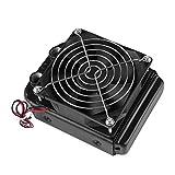 ASHATA Radiador de Aluminio de 90 mm, Radiador de Ventilador - Refrigeración por Agua de CPU Radiador de Aluminio de 8 Tubos, Radiador DC12V Radiador de Agua con Ventilador para Ventilador
