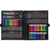 OhhGo - Set di 168 matite colorate acquerello, set da disegno per bambini, cancelleria (nero)