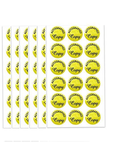 'Autographed Copy' Stickers 1.18 inch Round Gold Foil Labels/1008 Pcs Labels