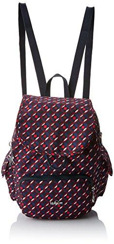 Kipling City Pack S, Damen Rucksack, Mehrfarbig (Red Tile Print), 15x24x45 cm (W x H x L)