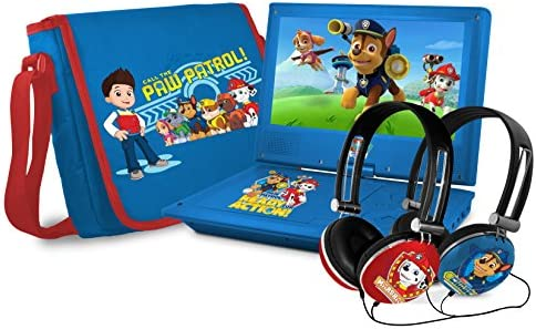 Ematic Nickelodeons Paw Patrol Theme Portable DVD Player with 9 Inch Swivel Screen Travel Bag product image