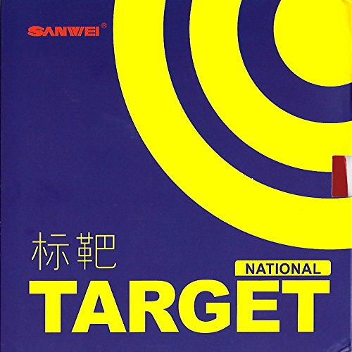 Review Of SANWEI Target National Table Tennis Rubber (Blue Sponge), Red, Max Sponge Thickness