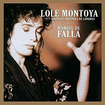 Lole Montoya canta a Manuel de Falla