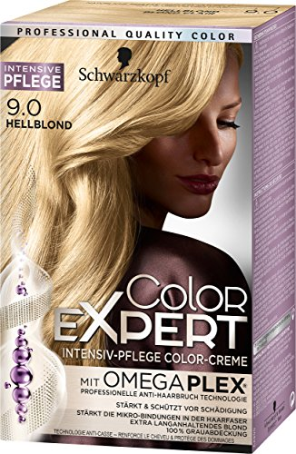 Schwarzkopf Color Expert Intensiv-Pflege Color-Creme 9.0 Hellblond, 3er Pack (3 x 167 ml)