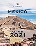 Mexico Calendar: With Large Cells Calendar Grid, featuring Mexico Cities, Landscapes, Pyramids, Mountains, Waterfalls and Wild Nature (2021 Travel Photo Calendar Series)