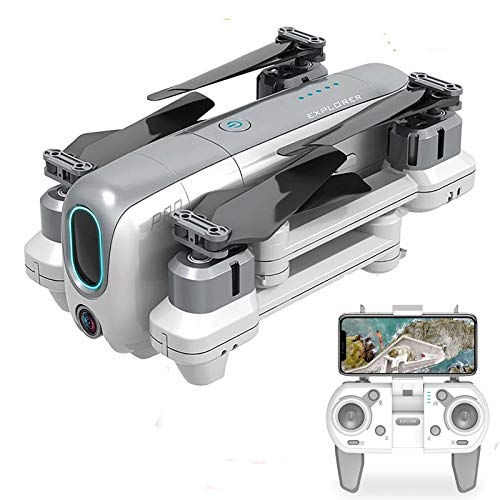 BaiTTang GPS Drone with 4K Camera(50x Zoom) for Adults, 5G WiFi FPV Live Video Foldable RC Quadcopter, 1KM RC Distance, Follow Me, 25+25 Mins Long Time Flight