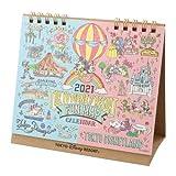 ミッキー&フレンズ 卓上カレンダー 2021年 手書き風デザイン 月曜始まり ディズニー グッズ お土産【東京ディズニーリゾート限定】