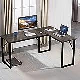 Amzdeal Mesa Escritorio Esquinero, Escritorio en L Mesa de Ordenador, mesa de escritorio para...