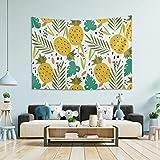 N/ A Tapiz para colgar en la pared, decoración de habitaciones – Piñas tropicales grandes tapices de pared para recámara, tapiz de pared o dormitorio, 80 x 60 pulgadas
