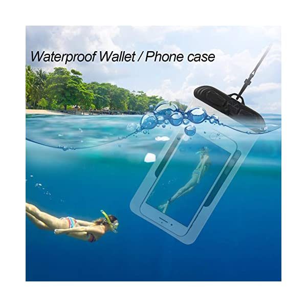 WOOWAVE SUP Leash Premium Stand Up Paddle Board Surfboard Leash Coiled 8/10 feet Stay on Board with Waterproof Wallet…