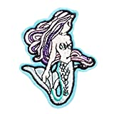 ZOOPOLR 3 Pcs Mermaid Delicate Embroidered Patches, Embroidery Patches, Iron On Patches, Sew On Applique Patch,Cool Patches for Men, Women, Boys, Girls, Kids