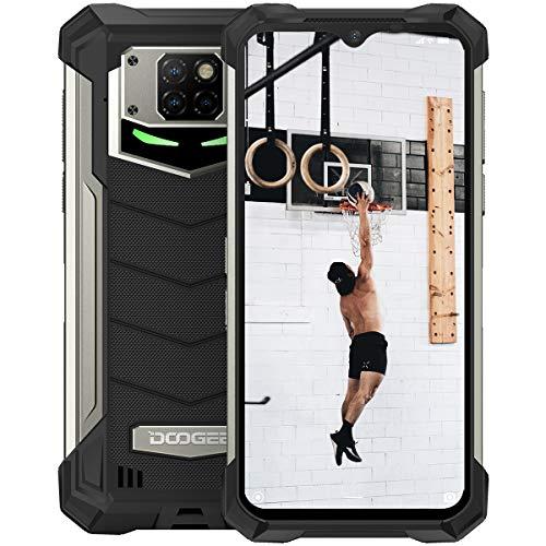 DOOGEE S88 Pro (2020) Outdoor Smartphone Ohne Vertrag,10000mAh Handy,6,3''FHD+Display IP68 Wasserdicht,6GB 128GB Android 10,21MP kameras,kabelloses Laden/PowerShare,24W Schnellladung,NFC(Schwarz)