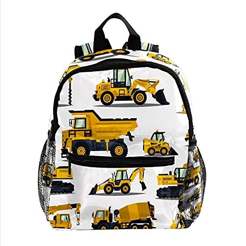KeepCart mochila mochila mochila mochila escolar ocio senderismo escuela de mochilero aprender ligero y lindo al aire libre Máquina de excavación de dibujos animados