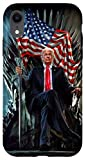 iPhone XR President Donald Trump Sitting on United States Throne Case