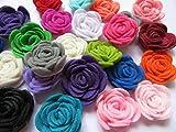 YYCRAFT, confezione di fiori 4D, rose in feltro da 3,8 cm, per applicazioni su un nastro, 20 pezzi Mix