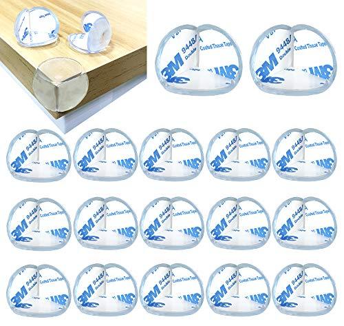 MEIXI Eckenschutz und Kantenschutz für Kindersicherheit, 20er-Pack Stoßschutz Transparent aus Silikon für Tisch und Möbel Ecken, Kantenschutz Stoßschutz für Babys und Kinder