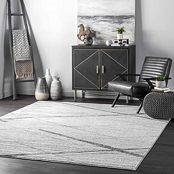 nuLOOM Thigpen Contemporary Area Rug 5 x 8 Feet Grey