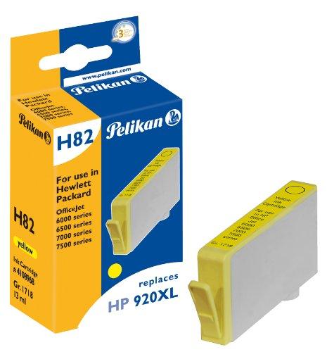 Pelikan 4108968 - Cartucho de tinta HP OfficeJet 6500-920 - XL - AMARILLO ⭐