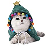 Disfraz de Navidad para mascotas Disfraz de capa de Navidad para mascotas Capa de...