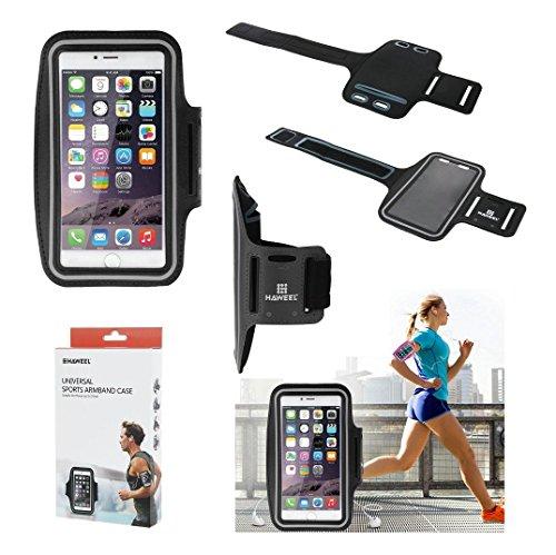 DFVmobile - Armband Berufsausrüstung Armbandtasche Sport Reflektierende Wasserabweisende aus Neopren Premium für THL T9 PRO DUAL LTE - Schwarz