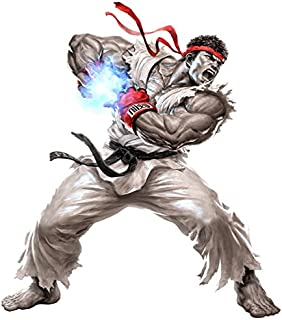 Street Fighter Ryu Augmented Reality Wall Decal Peel & Stick Removable Vinyl