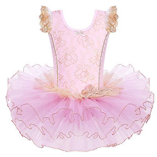 HUAANIUE Princesa Vestido de La Elegancia de La Danza del Tutú del Ballet Clásico de Encaje