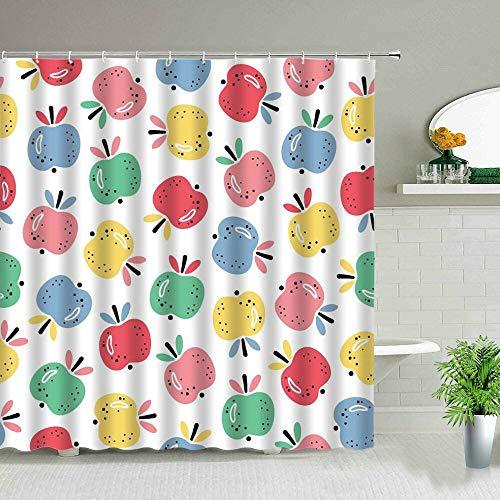 XCBN Cartel de Arte de piña de Frutas Tropicales, Cortinas de Ducha, decoración de Fondo, Pantalla de baño, Cortina de baño de Tela Impermeable A7 150x200cm