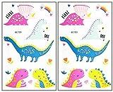 Mini Tattoos 2 Sheets World Animal Triceratops T-Rex Dinosaur Cartoon Stickers Waterproof Temporary Tattoo Make up Sexy Body Art for Men Women Kids Children's (07)