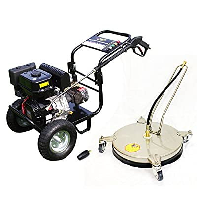 Kiam Driveway Cleaning Pack: KM3700PR Petrol Pressure Washer Gearbox Model, VT62-420S Rotary Cleaner, Turbo Nozzle - Driveway Patio Car Block Paving Cleaner from KIAM POWER PRODUCTS