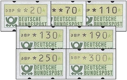 Goldhahn BRD ATM 1.1 7 Werte mit Weißer Gummierung postfrisch  Briefmarken für Sammler