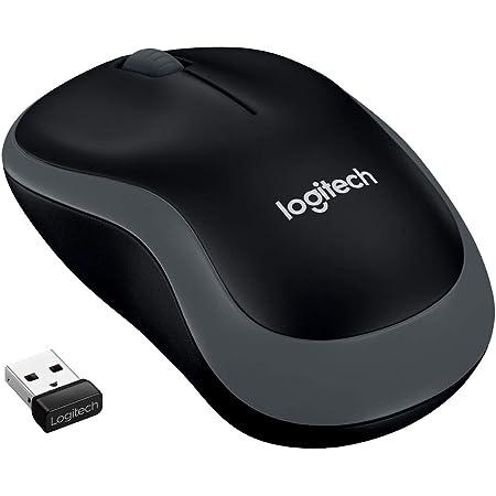 Logitech M185 Ratón Inalámbrico, 2.4 GHz con Mini Receptor USB, Batería 12 Meses, Seguimiento Óptico 1000 DPI, Ambidiestro, PC/Mac/Portátil, Gris