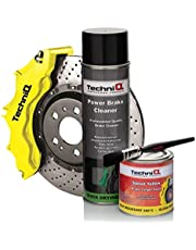 TechniQ Speed Yellow (Gloss) - Pintura para calibrador de Frenos (250 ml, Limpiador de Frenos y Pincel para Pintar)