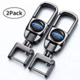 Jazzshion Pack Car Logo Keychain Suit for Ford Fusion F250 F350 F450 F550 Edge Explorer Mustang F150 Key Chain Key Ring Family Present for Man and Woman