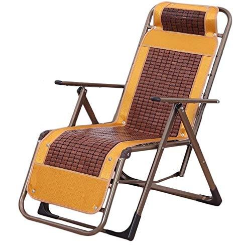 ZYLHC Las sillas sillón reclinable Plegable al Aire Libre Plegable Silla de Oficina Silla for Exteriores Siesta Silla de Playa el Almuerzo de la Mujer Embarazada Rotura Silla (Color : C)