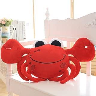 蟹 ぬいぐるみ カニ縫い包み おもちゃ 抱き枕 休みクッション かわいい 癒しグッズ 赤ちゃん 子供 彼女へ おもちゃ 柔らかい キャラクター お誕生日プレゼント お祝い ギフト おもしろい 眠りまくら レッド65CM