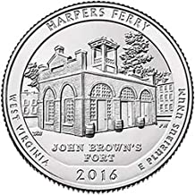 2016 S Silver Proof Harpers Ferry National Park Quarter Choice Uncirculated US Mint