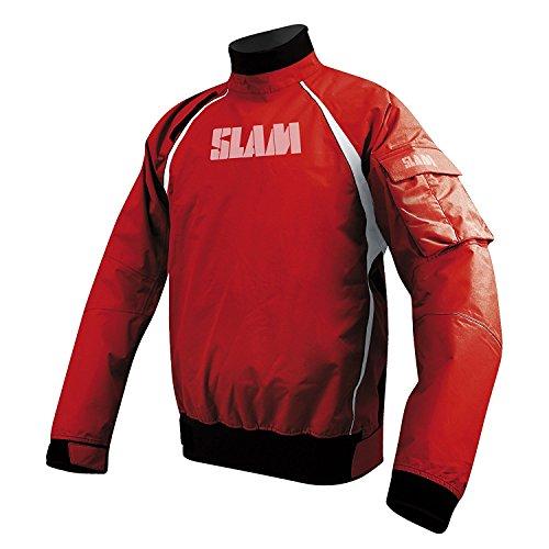 SLAM Force 2 Spray Vareuse pour homme – Étanchéité 15 000 mm, poignets et col ajustables en PU, Homme, Red, 3X-Small