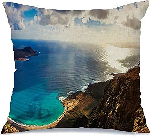 Funda de Almohada Hermosas Vacaciones volcánicas Viaje a la
