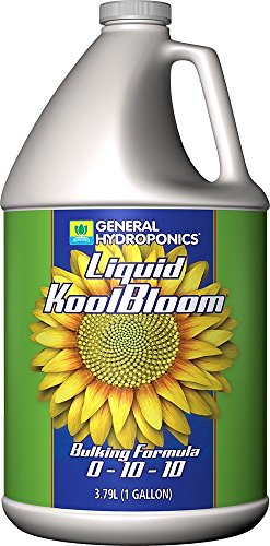 General Hydroponics GH1453 Liquid KoolBloom 0-10-10, Promotes Intense Flowering, Helps Facilitate Bulking & Ripening in Annuals, Use in Hydroponics, Soil, & Coco Coir-Concentrate, 1-Gallon, natural