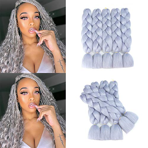 Alissa Jumbo Braiding Hair Extensions High Temperature Kanekalon Synthetic Braiding Twist Hair Multiple Tone Colored Jumbo Braiding Hair (24'', A40)