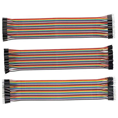 120piezas conectores alambre puente: macho macho