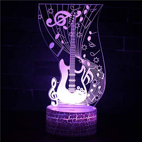 3D ilusión lámpara clarinete humor luz 7 color cambiante acrílico LED noche luz USB cables dormitorio escritorio decoración