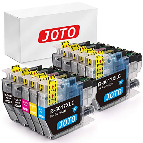 JOTO Compatible Ink Cartridge Replacement for Brother LC3017 LC3017XL for Brother MFC-J5330DW , MFC-J6930DW , MFC-J6530DW , MFC-J5335DW Printer Ink (4B,2C,2M,2Y)