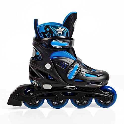 High Bounce Adjustable Inline Skate (Blue, Small (12-1) ABEC 5)