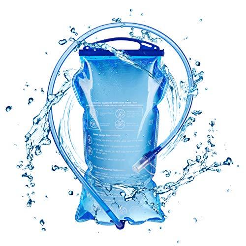 TRIWONDER TPU Bolsa de Agua Soft Flask 1.5-2-3L Vejiga de Hidratación Deportivas sin BPA a Prueba de Fugas Ideal para Mochila de Hidratación para Correr Ciclismo Senderismo (1.5L)
