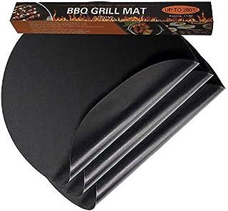 Zilong lot de 3 Tapis de Cuisson Rond Tapis de Barbecue Antiadhésif FDA et LFGB Autorisation, Lavable et Réutilisable pour...