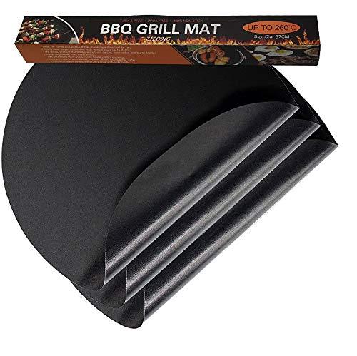 Teflon Grillmatte, Agreenway Backmatten Gebacken Antihaftend, Grill und Backmatte - Genehmigt von der FDA, LFGB und SGS - ideal zum Brötchenaufbacken, 3pc (37*37 cm)
