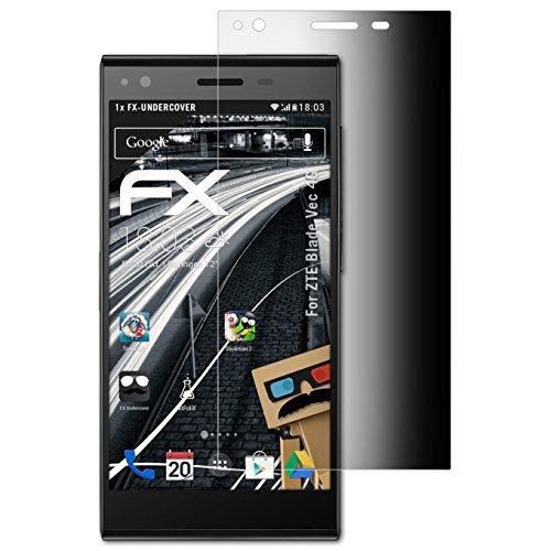 atFolix Blickschutzfilter kompatibel mit ZTE Blade Vec 4G Blickschutzfolie, 4-Wege Sichtschutz FX Schutzfolie