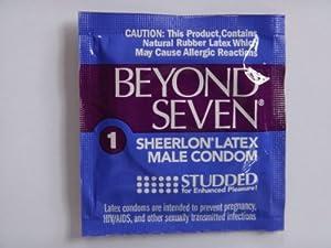 Beyond Seven Studded Condom thin Sheerlon, Super Thinner Condom